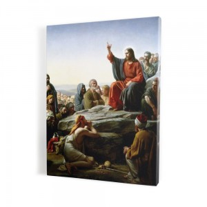 Teachings on the mountain, print on canvas, wall art