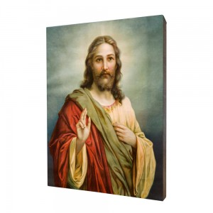 Jesus painting, print on a linden board
