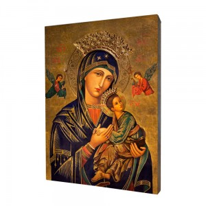 Our Lady of Perpetual Help painting, print on a linden board
