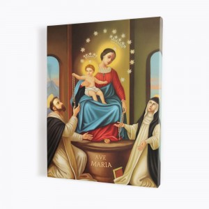 Our Lady of Pompeii, print on canvas, wall art