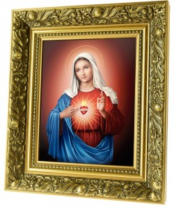 Immaculate Heart of Mary ceramic painting
